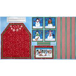 Snow Magic Kid's Apron Panel Multi