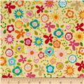 Riley Blake Summer Breeze Tossed Floral Yellow