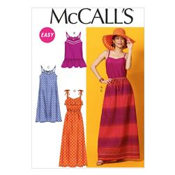 McCall's Misses' Top, Tunic, Dresses and Skirt Pattern