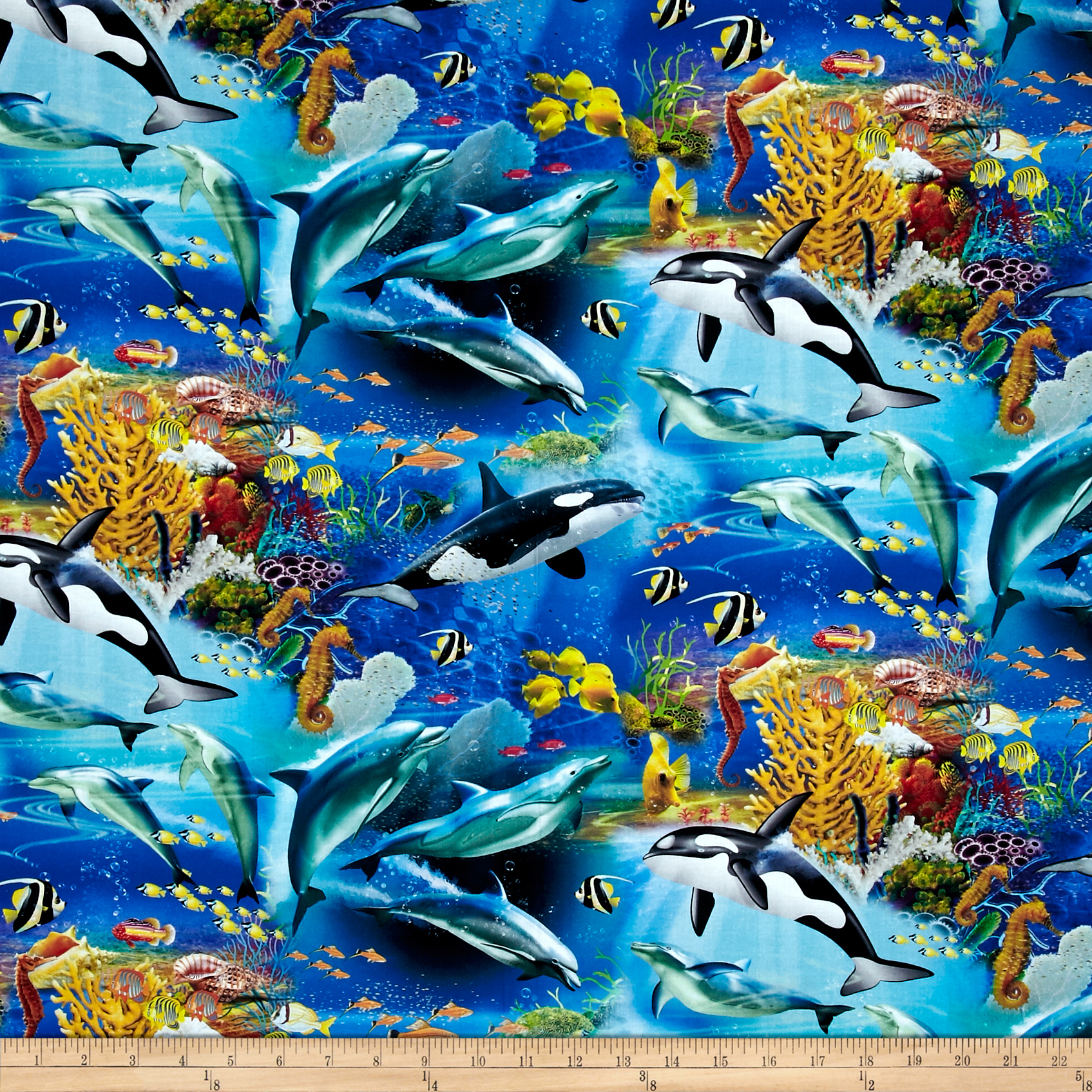 Animal Reign Born To Be Free Digital Print Multi Fabric by David in USA