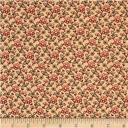Moda Collection for a Cause Mill Book Garden Flower Antique Tan