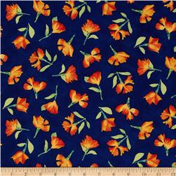 Cherish Tossed Poppies Navy