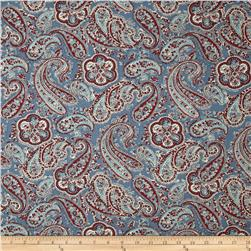 Paisley Blue/Red