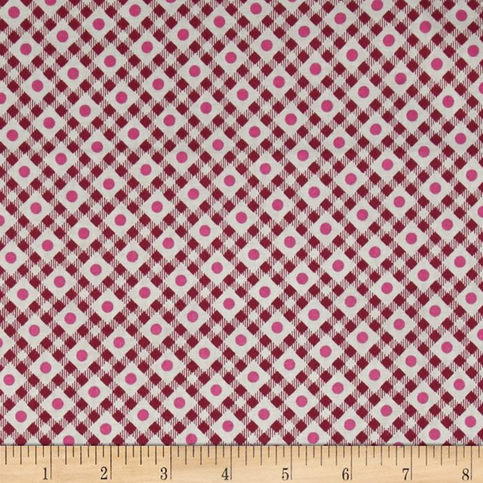Vintage Made Modern Dot Check Pink