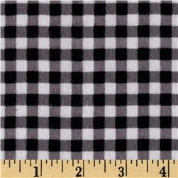 Riley Blake Flannel Basics Gingham Black/White