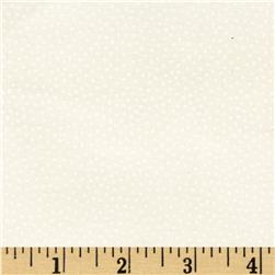Michael Miller Garden Pindot White on White