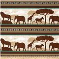 Wisdom of The Plains Safari Scenic Stripe Brown