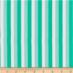 Moda Color Theory Ombre Stripes Teal
