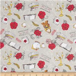 Disney Beauty and the Beast Friends Grey