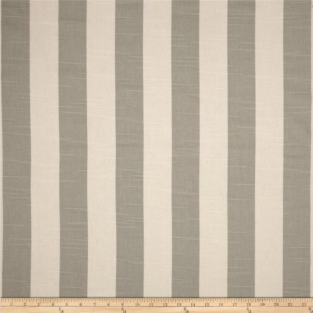 Premier Prints Stripe Slub Coastal Grey