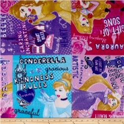 Disney Fleece I am a Princess Patch Multi