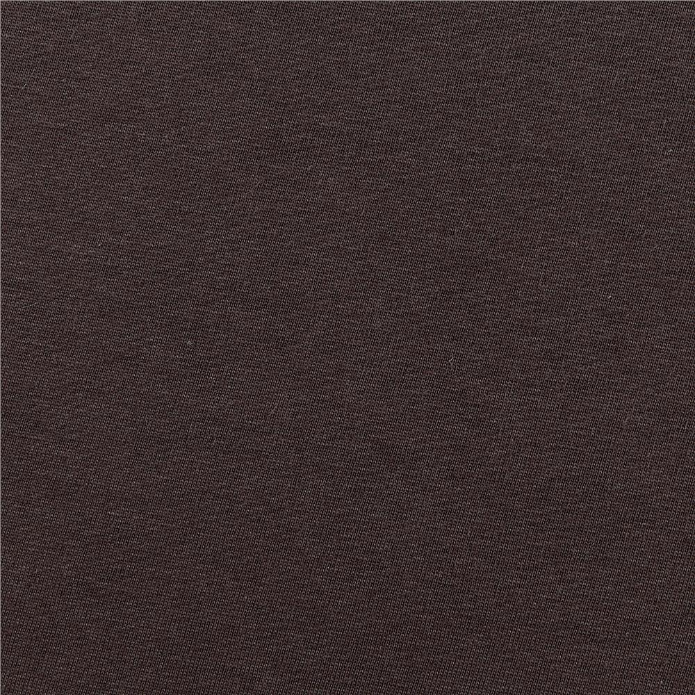Telio Organic Cotton Jersey Knit Chocolate Brown