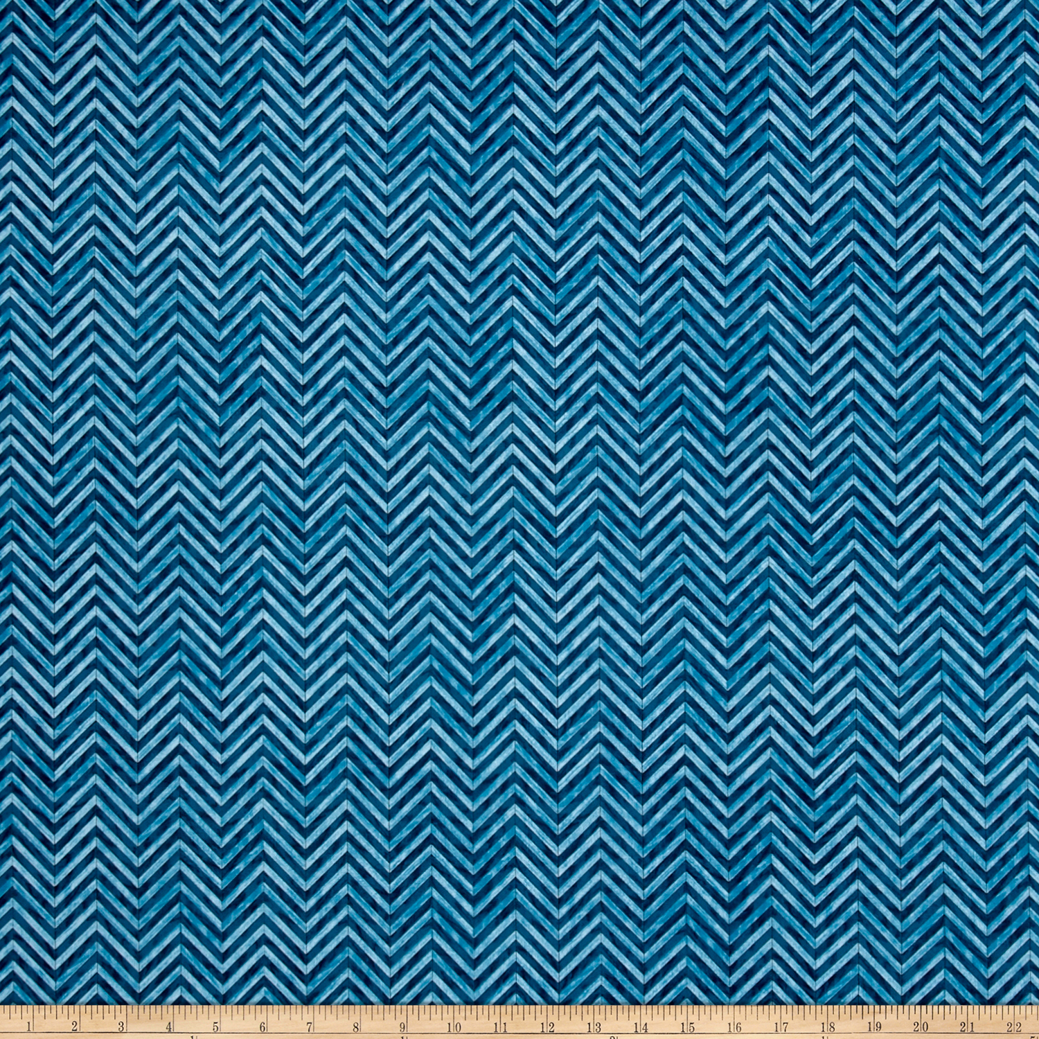 Craftsman Chevron Denim Fabric