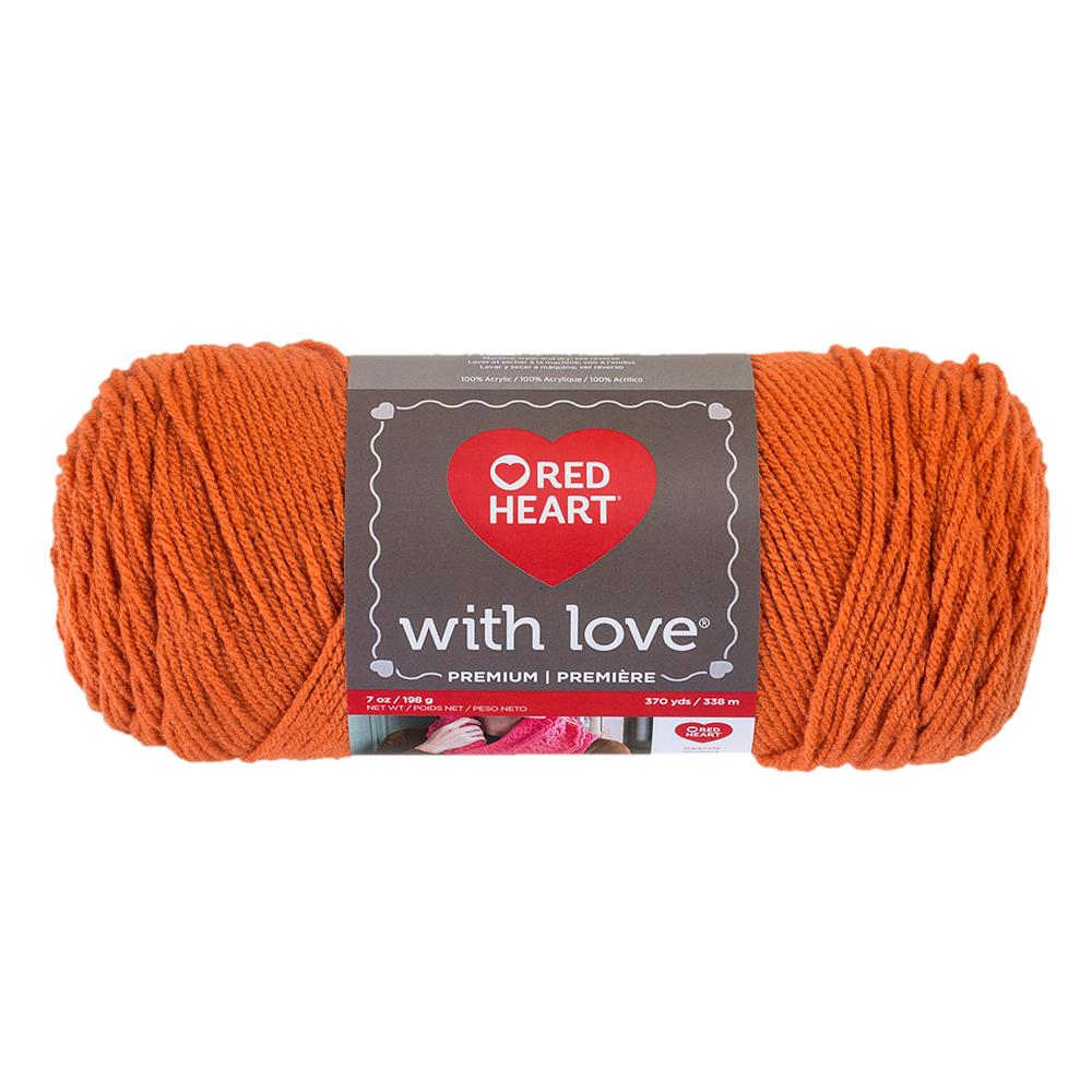 Red Heart With Love 1252 Mango