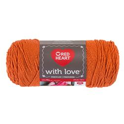 Red Heart Yarn With Love 1252 Mango
