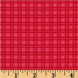 Baby Dino Gingham Bright Pink Fabric