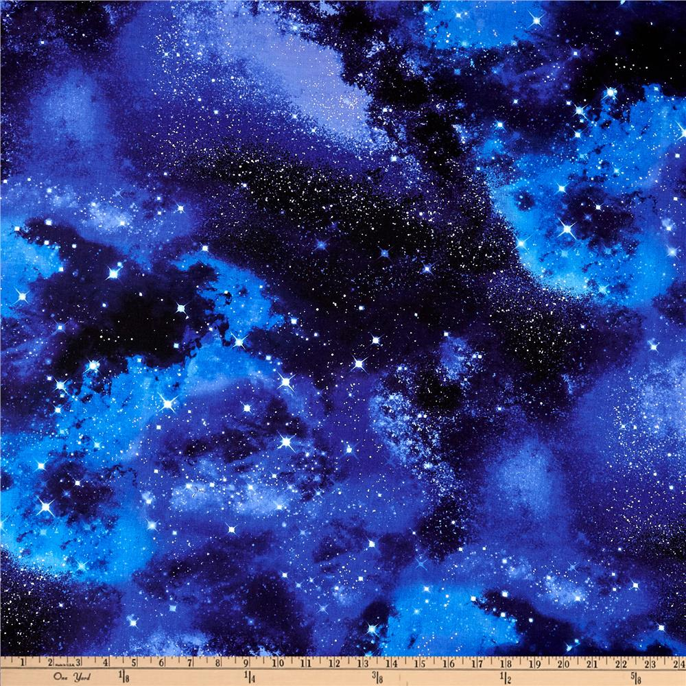 Timeless treasures space galaxy discount designer fabric for Solar system fleece fabric