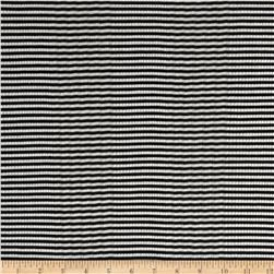 3 x 2 Rib Knit Stripes Black/White