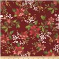 The Giving Quilt Metallic Poinsettia Holly Red
