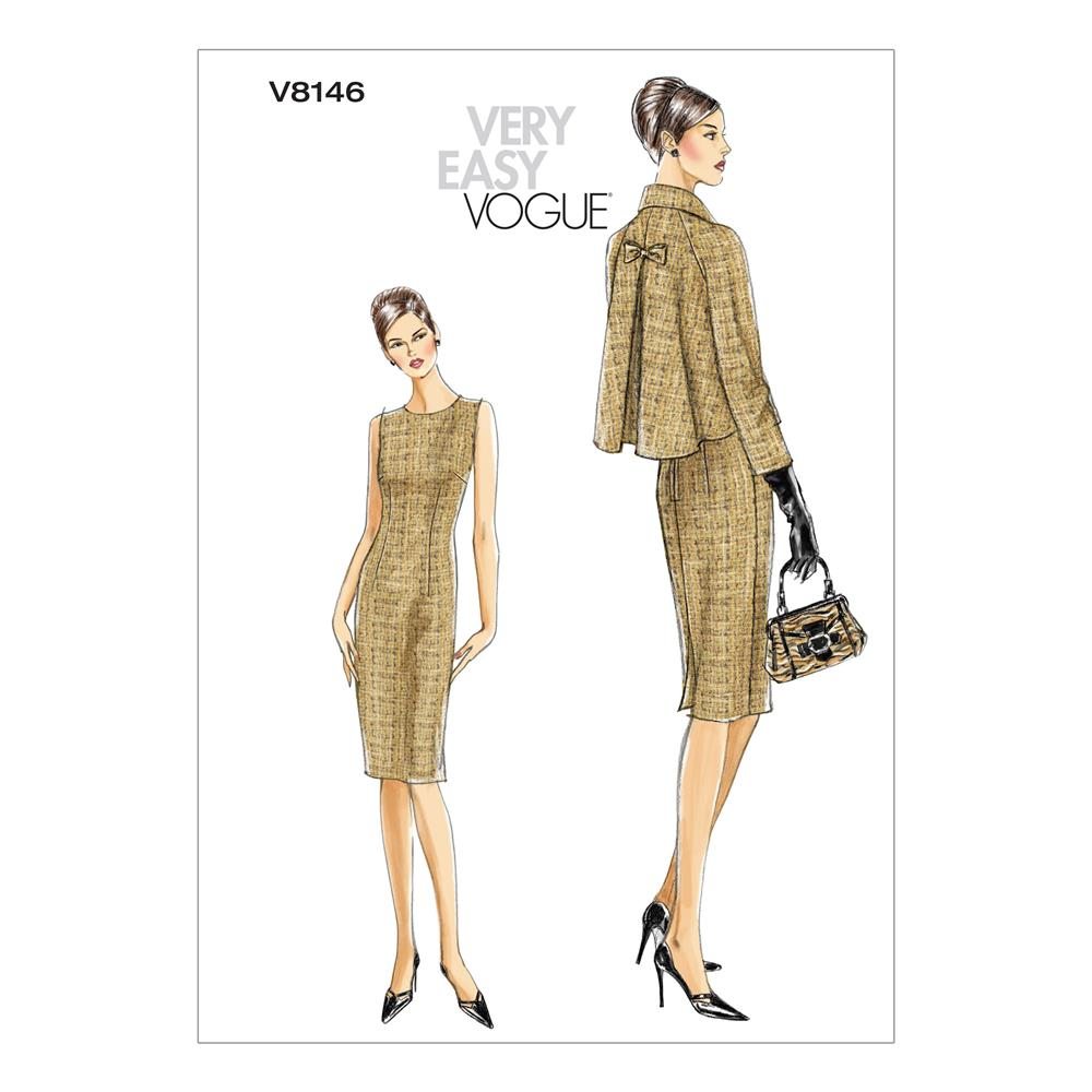 Vogue Misses'/Misses' Petite Jacket and Dress Pattern V8146