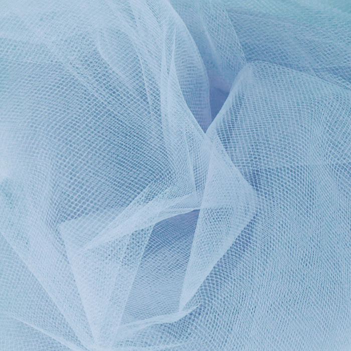 54'' Wide Tulle Cotillion Blue Fabric