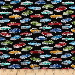 Timeless Treasures Mini's Classic Cars Black