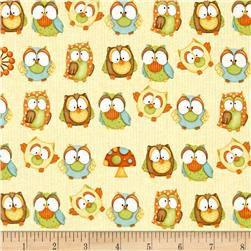 Hoot! Hoot! Hooray! Owls Yellow