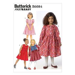 Butterick Children's/Girls' Dress Pattern B6084. Size CDD
