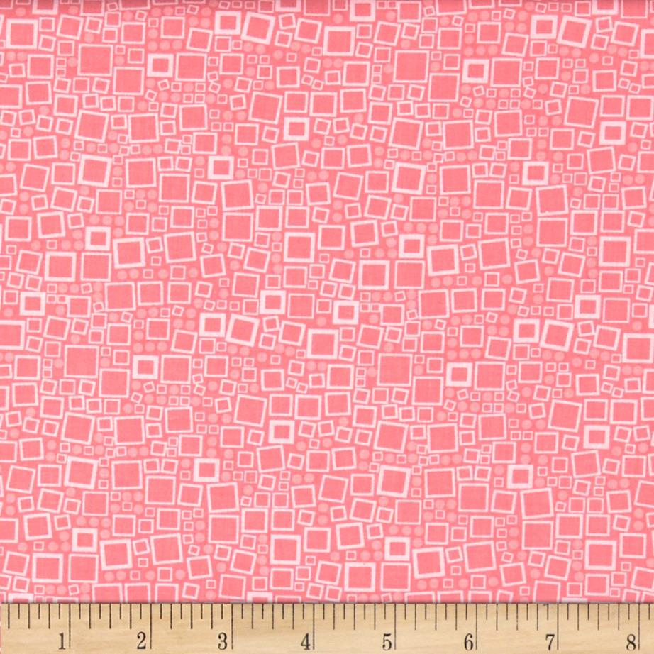 Poppy Panache Squares & Dots Light Pink