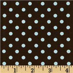 Michael Miller Dumb Dot Blue Fabric