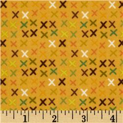 Riley Blake Giraffe Crossing Flannel Giraffe Tic Tac Yellow
