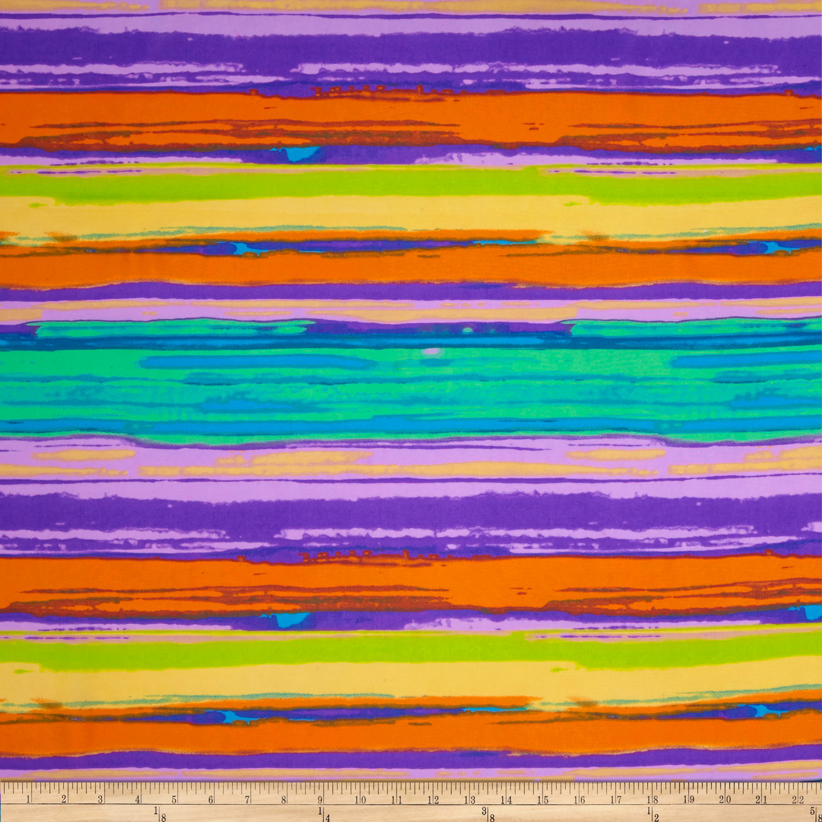 Vivid Chiffon Purple/Orange/Lime Fabric