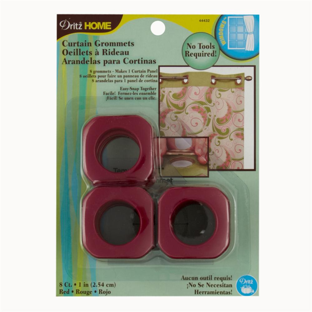 "Curtain Grommets Square 1"" Red"
