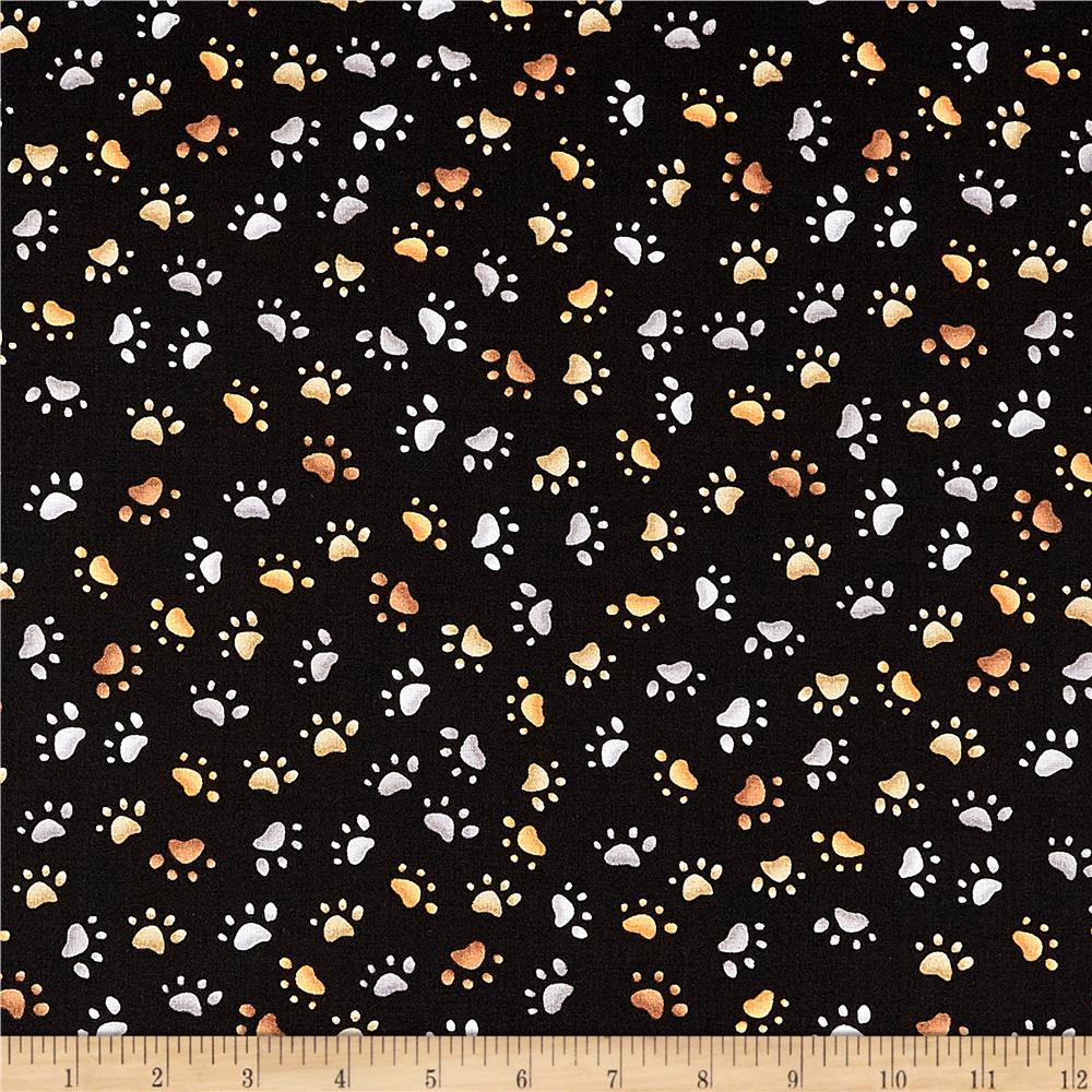 Loralie Designs Dear Doggie Delight Puppy Paws Black