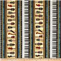 Encore Instruments Piano Keys & Guitar Stripe Black
