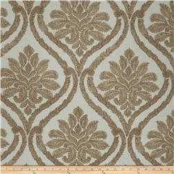 Fabricut Nilton Damask Faux Silk Spa