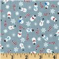 Let It Snow Glitter Mini Snowman Gray