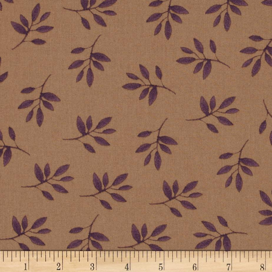 Bohemian Chic Tossed Leaves Dark Taupe