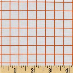 Citrus 1/2'' Grid Orange Fabric