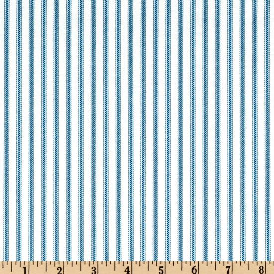 Ticking Stripe Periwinkle/Ivory