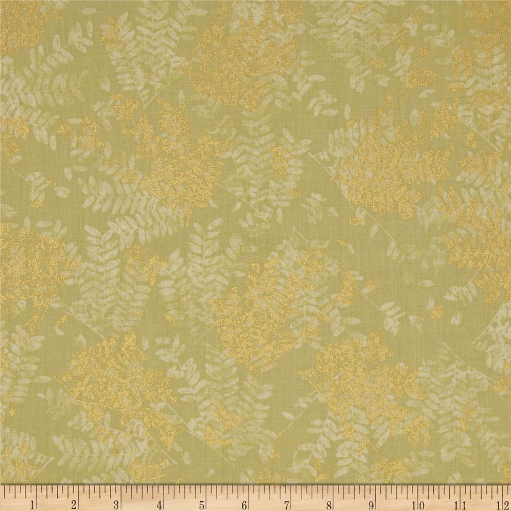Lonni Rossi's Metallic Ferns Light Green/Gold