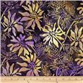 Batik by Mirah Rum Raisin Florals Royal Purple