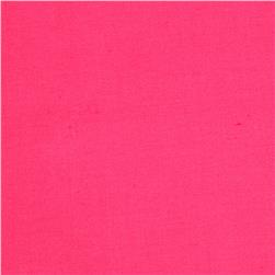 Stretch Cotton Sateen Solid Hot Pink