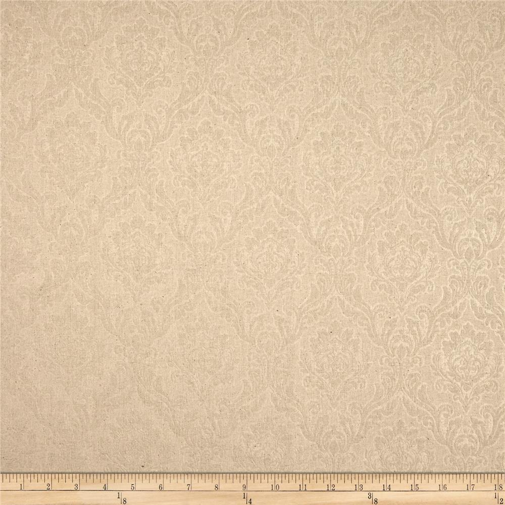 Espera Damask Linen Blend Natural