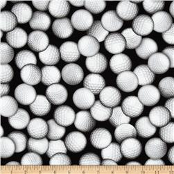 Sports Life Golf Balls Black Fabric