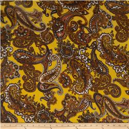 Yoryu Chiffon Paisley Gold/Brown