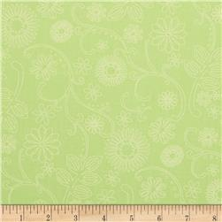 110'' Wide Quilt Back Signature Neon Green Fabric