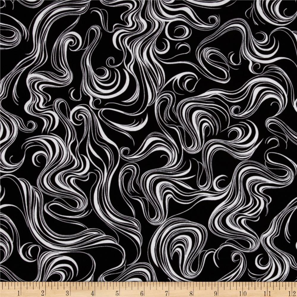 Matrix Waves Black/White