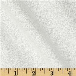 Tone On Tone Scrolls White/White Fabric