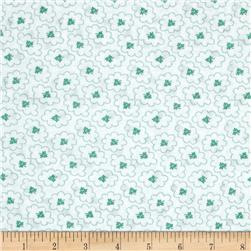 "Kaufman 108"" Quilt Back Hints of Prints Flowers Aloe"
